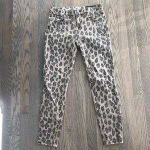 BLANK NYC Leopard The Reade crop skinny Jean 27